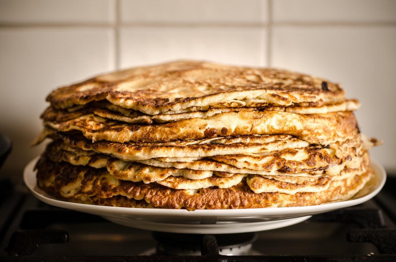 Pancake gestapelt