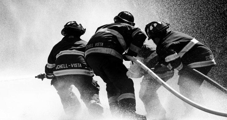 Wasserschlauch Feuerwehr