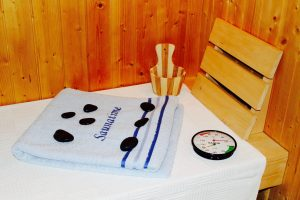 Sauna mit Kontaktlinsen