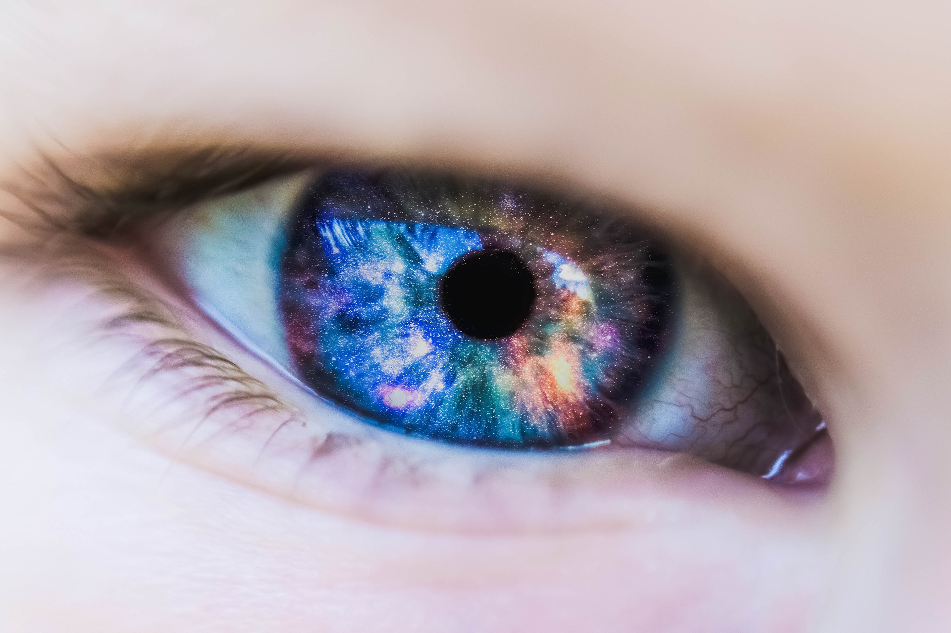 Kontaktlinsen in der sauna